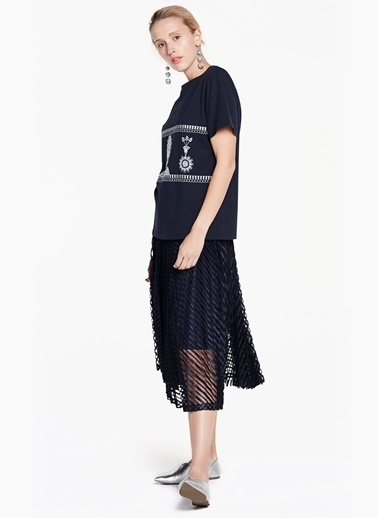 Baskılı Kısa Kollu T-Shirt-Twist